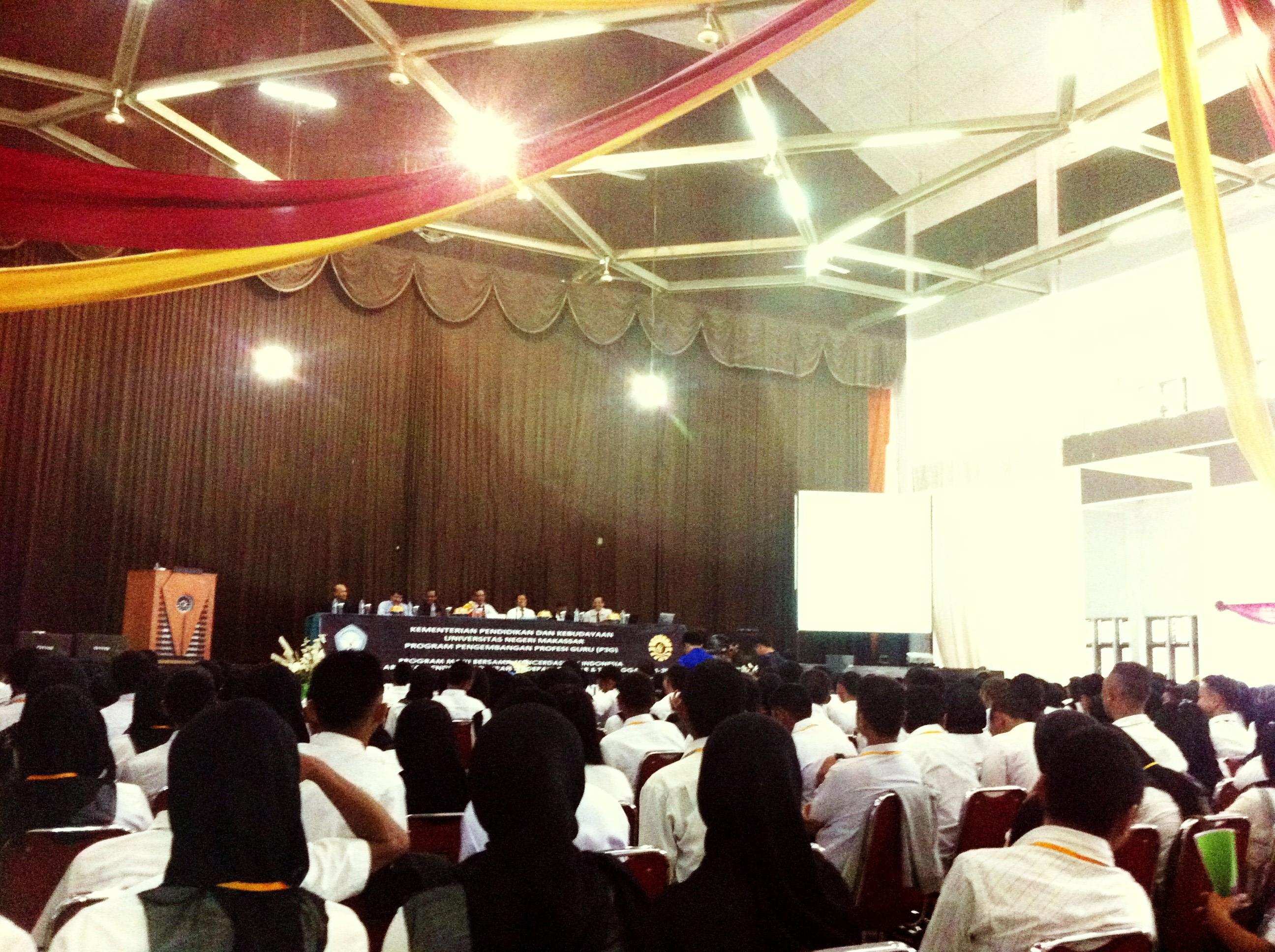 Pembukaan Prakondisi SM-3T Angkatan II Tahun 2012 Universitas Negeri Makassar